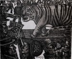 The Last Tiger. Charcoal/Pastel, 150 x 180 cms (£1250).