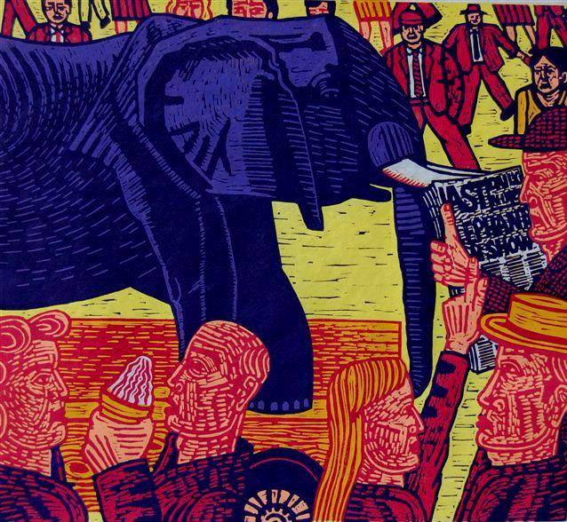 Last Elephant, 49 x 53 cms. £350 (edition of 20).
