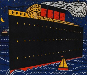 Ships in the Night IV. 51 x 59 cms. £350 (edition of 25).