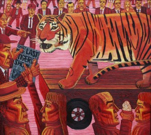 The Last Tiger, 180 x 210 cms.