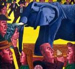 TThe Last Elephant (1992). 150 x 180 cms.