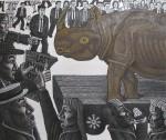 The Last Rhino, 156 x 186 cms, 2014.