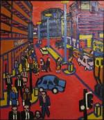Manchester High Street Summer. Oil on canvas, 152 x 125 cms.