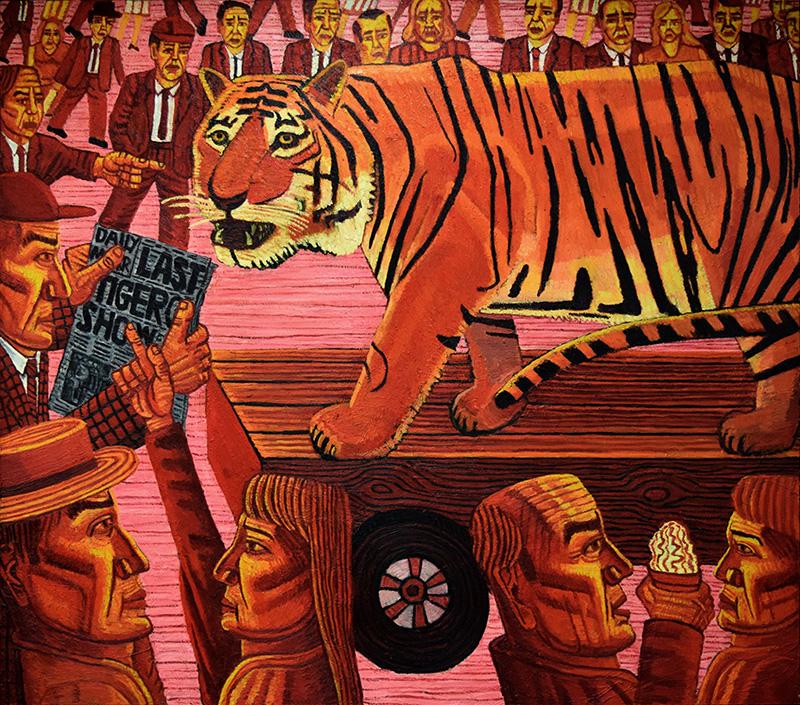 The Last Tiger (1993). 180 x 210 cms.