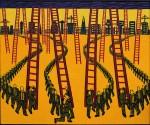 Ladders. 160 x 184 cms.