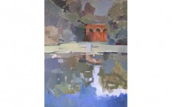 Viaduct Pond Hampstead. Oil on Canvas: 24ins x 30ins 2005 (sold).