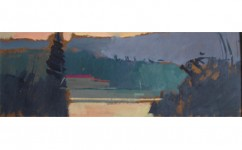 5am Monastery. Oil on board: 10ins x 4ins 2010 (sold).