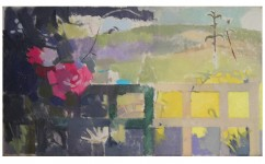 Garden at Boxhill. Oil on canvas: 20ins x 12ins 2008.