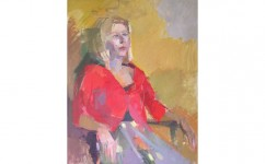 Red Jacket. Oil on canvas: 30ins x 24ins 2006 (£1,750).
