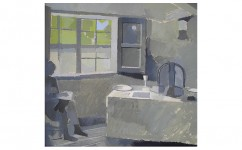 Figure in the Kitchen of Keats' House. Oil on board, 20ins x 18ins 2010.