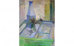 Bottle and Glass. Oil on canvas: 20ins x 16ins 2007 (sold).