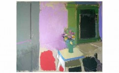 Interior with Still-life. Oil on canvas: 40ins x 30ins 2009 (sold).